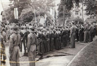 On Parade in Chappaqua, N.Y. 5/30/63 photo Anne Ray