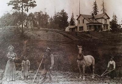 The Mattson farm.  That's my grandmother Ada, on the left.