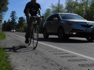 Rumble Strips already etched into the main road north of Town.
